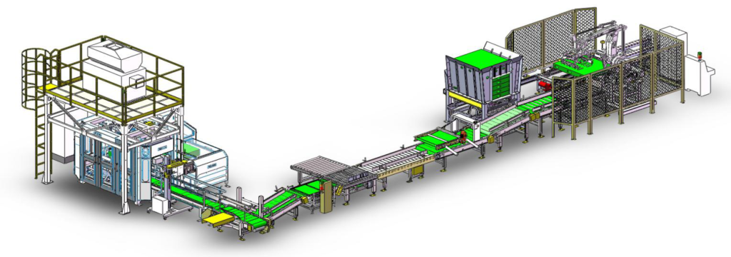 Animal feed packaging solution ABB  robot palletizing